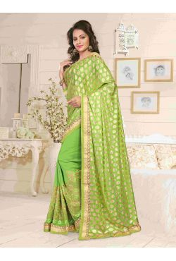 Vêtement hindou vert pomme et doré