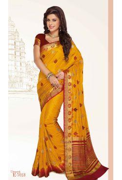 robe indienne orange et beige+