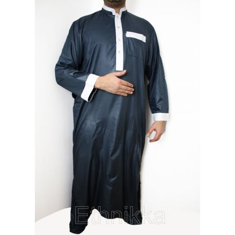 Djellaba homme Quraish Bleu gris