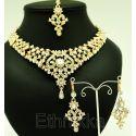 Parure bijoux indiens pas cher en plaqué or