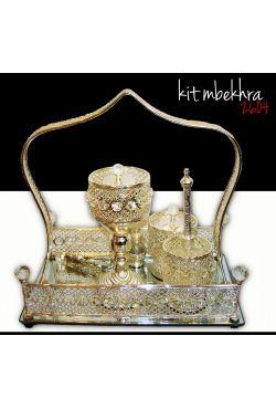 Kit encensoir brule encens Mabakhra argenté