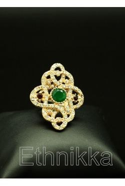 Bague bijou oriental turque en plaqué or