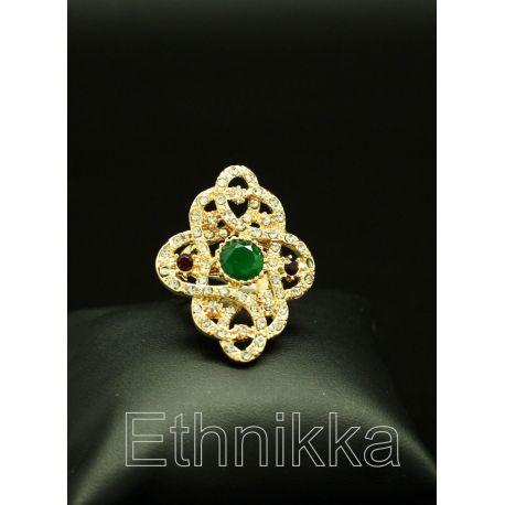 Bague bijou orientale turque en plaqué or