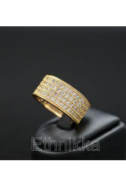 Bague en plaqué or bijou orientale anneau strass