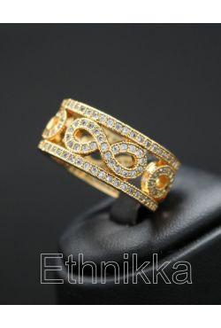 Bague anneau orientale bijou en plaqué or