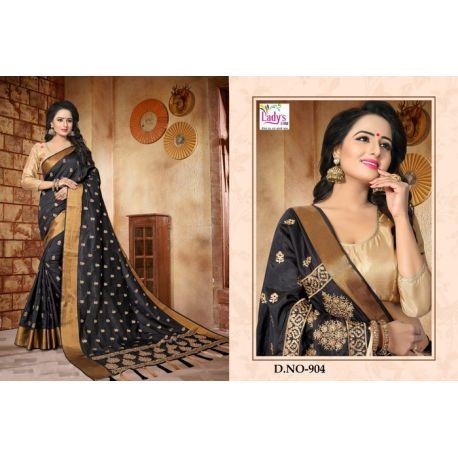Robe indienne sari noir