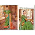 Robe indienne sari vert