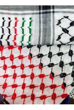 Keffieh foulard palestinien rouge et vert