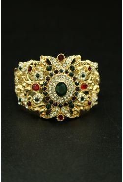 Bracelet oriental plaqué or