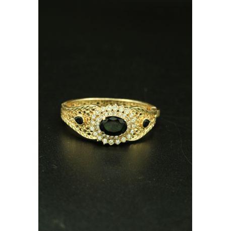 Bracelet de Turquie plaqué or pierres noires harim sultan