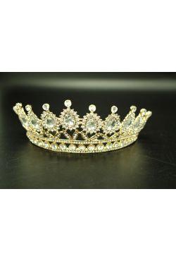 Bijou oriental couronne en plaquée or