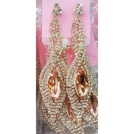 Boucles d'oreilles pendantes bijoux sertis de pierres