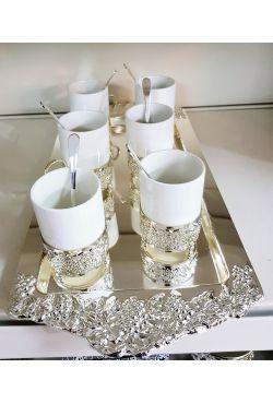 Service à thé oriental en porcelaine