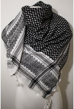 Keffieh arafat noir et blanc