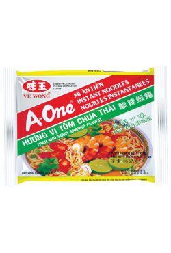 Nouilles instantanées A-ONE crevettes de Ve Wong 85G