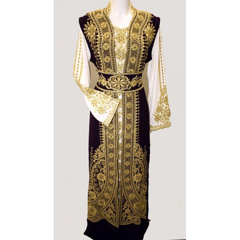 Robe Dubai Pas Cher Blanc Ivoire