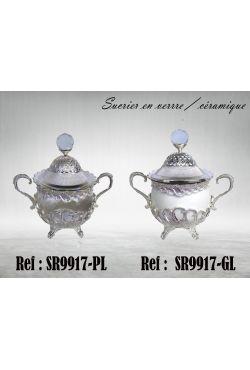 Sucrier oriental en porcelaine ou en verre