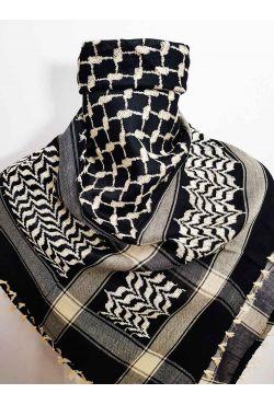 Keffieh noir et beige foulard