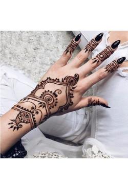 Pâte de tatouage au henné noir brun, cônes indiens pour tatouage temporaire, autocollant, peinture corporelle, crème d'art, ense