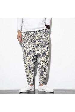 Pantalon Baggy en coton pour hommes, sarouel avec poche, style Hip hop, jambes larges, Vintage, Aladdin