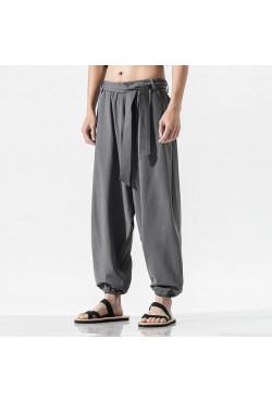 Sarouel Pantalon Tai Chi en chanvre