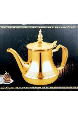 Théière marocaine induction dorée inox