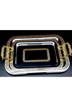 Plateau miroir rectangulaire