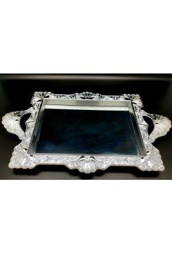 Plateau miroir rectangle