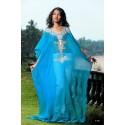 Robe orientale bleue