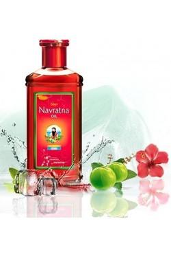 Huile cheveux soins Navratna de massage relaxant ayurvédique aux plante