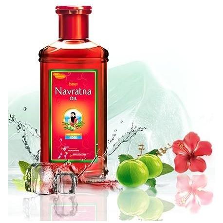 Huile Navratna de massage relaxant ayurvédique aux plantes - 100 ml