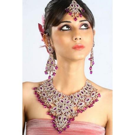 Bijoux parure de mariage pas cher indiens