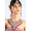 Bijoux indiens ethniques parure mauve