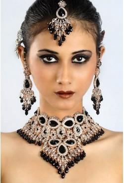 Bijoux indiens de mariage parure noire