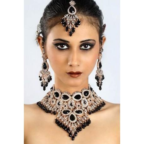 Bijoux indien mariage parure noire
