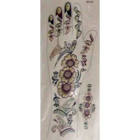 Stickers de fleurs tatouages