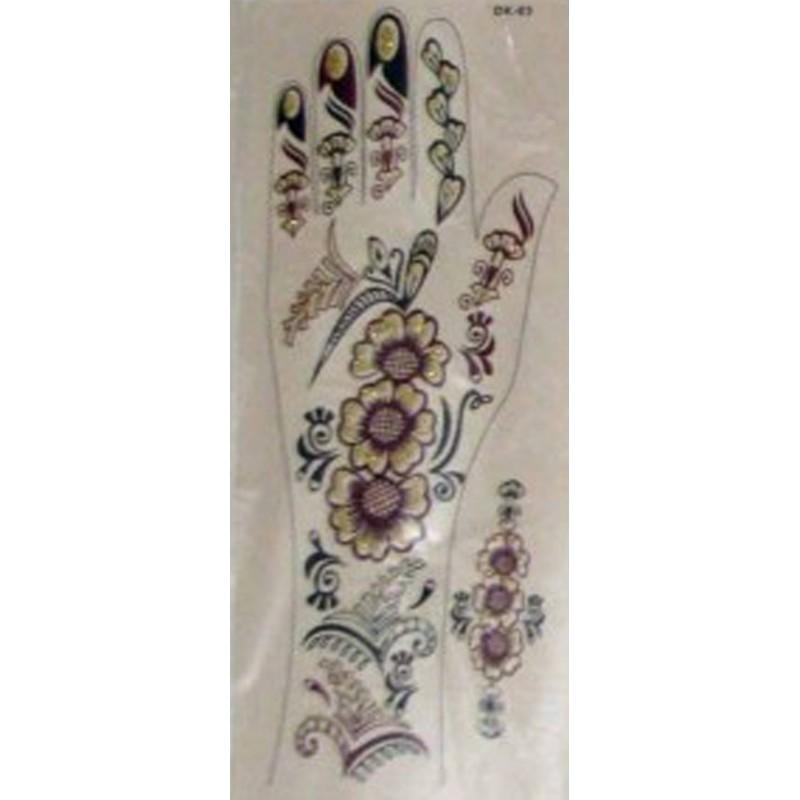 Acheter sticker tatouage main mehndi design dor s for Livraison fleurs paypal