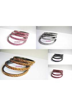 Bracelets bangles ornés de strass cristal Bollywood