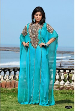 Robe orientale turquoise