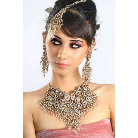 Bijoux de mariage indien blanc