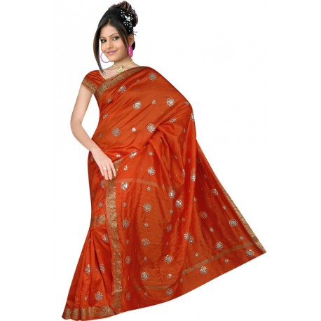 Sari indien traditionnel en soie robe indienne - Decoration indienne pas cher ...