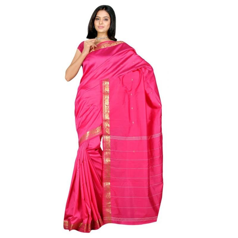 sari indien en soie satin pas cher. Black Bedroom Furniture Sets. Home Design Ideas