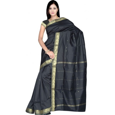 Sari indien traditionnel en soie satin pas cher