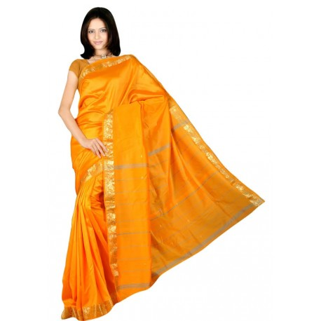 Sari indien traditionnel en soie satin pas cher