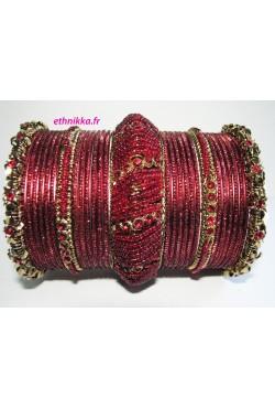 Bracelets indien rouge bijoux mariage traditionnel