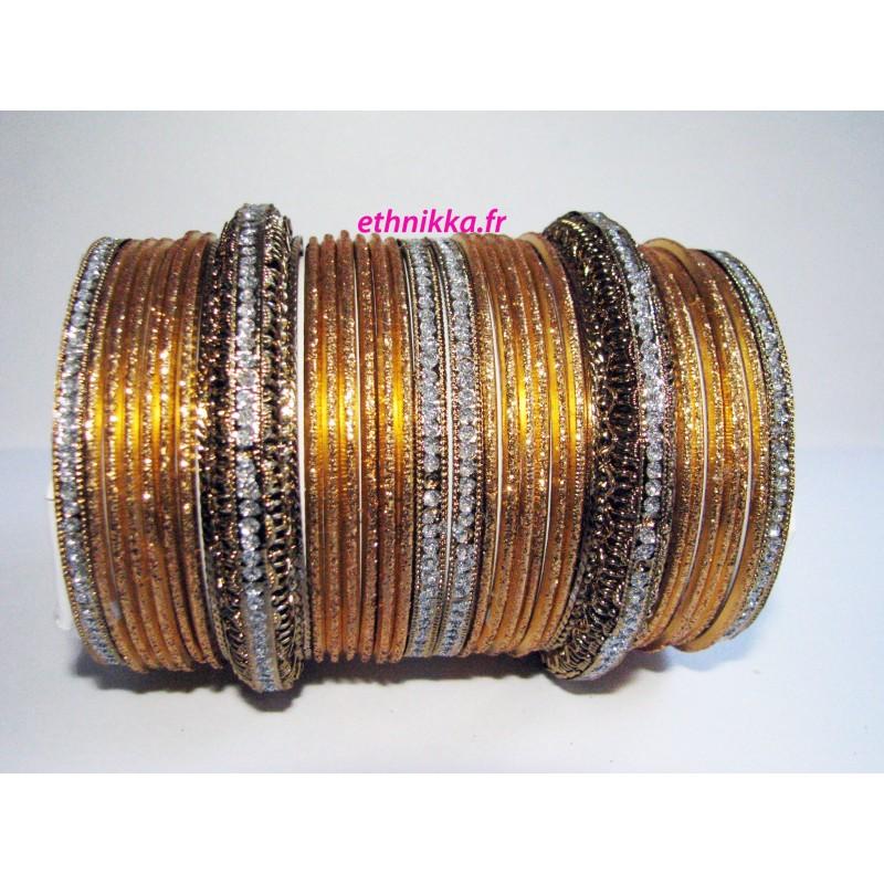 Soldes Bracelets indien doré bijoux mariage