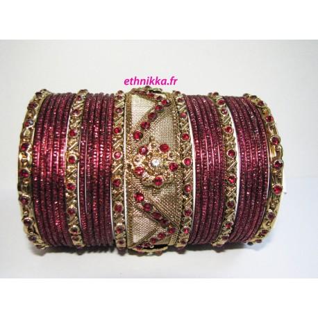 Bracelets indien rouge bijoux mariage