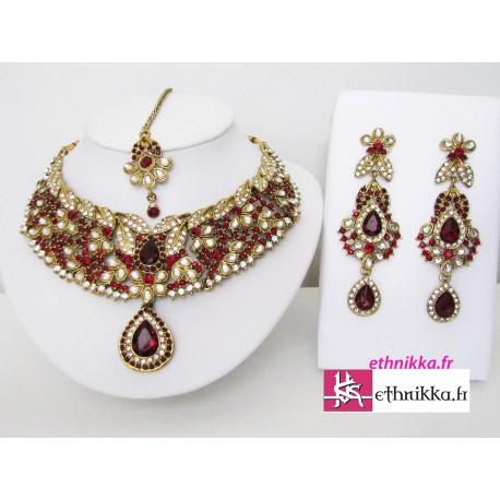 Parure bijoux indiens de mariage bollywood