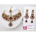 Bijoux indiens de mariage bollywood rouge