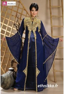 Robe dubaï bleue